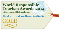 Best Animal Welfare Initiative' at the World Responsible Tourism Awards
